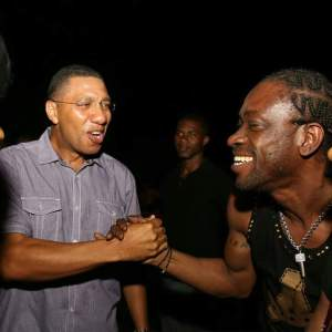 Andrew Holness & Bounty Killer at Allstar Thursdays