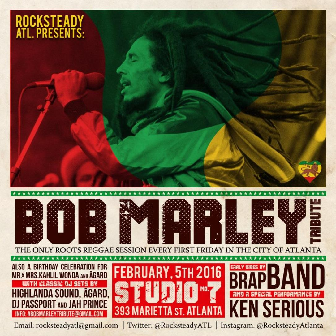 BOB MARLEY 71ST BIRTHDAY BASH AND AQUARIUS CELEBRATION Studio No7
